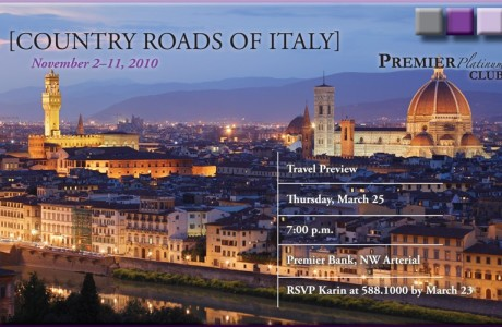 Premier Bank Tour of Italy